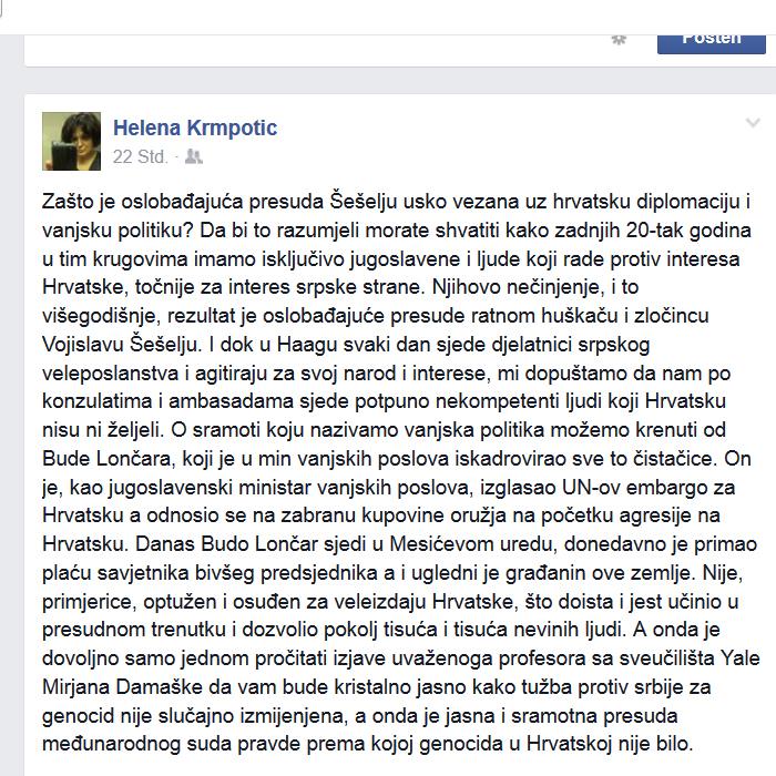 Helena Krmpotic o Budi Loncaru