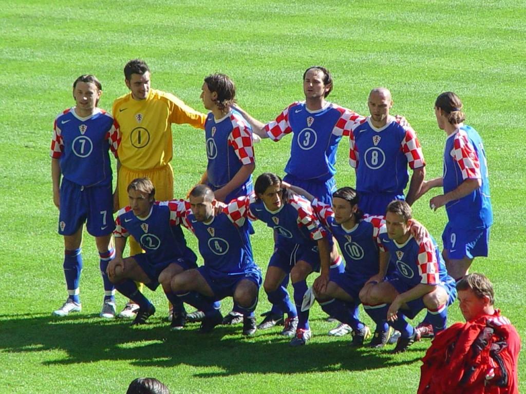 Naša reprezentacija prije utakmice sa Švicarskom