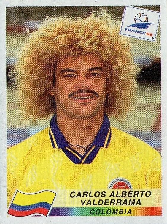 Carlos Valderrama Kolumbija WC 1998