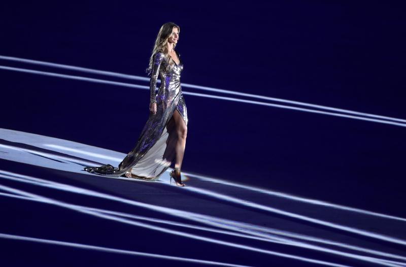 05.08.2016., Brazil, Rio de Janeiro - Svecana ceremonija otvorenja Olimpijskih igra Rio 2016 na stadionu Maracana. Model Giselle Bundchen. Photo: Igor Kralj/PIXSELL