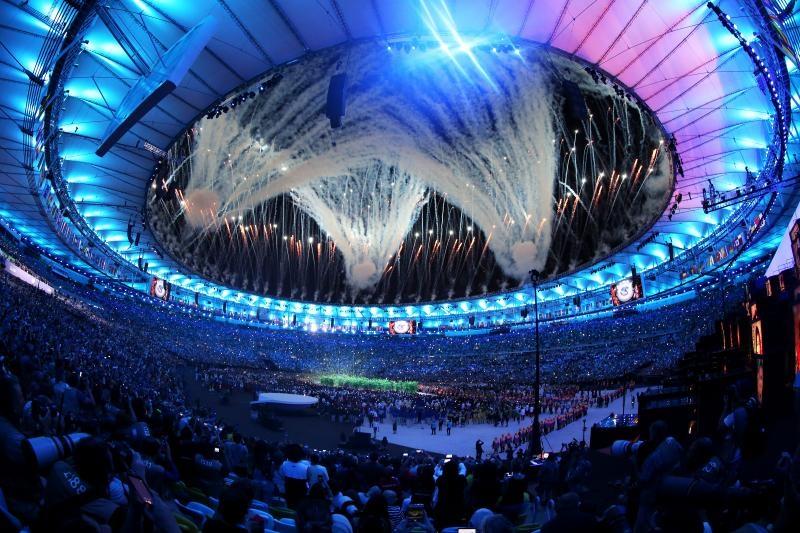 05.08.2016., Brazil, Rio de Janeiro - Svecana ceremonija otvorenja Olimpijskih igra Rio 2016 na stadionu Maracana. Vatromet na Maracani Photo: Igor Kralj/PIXSELL