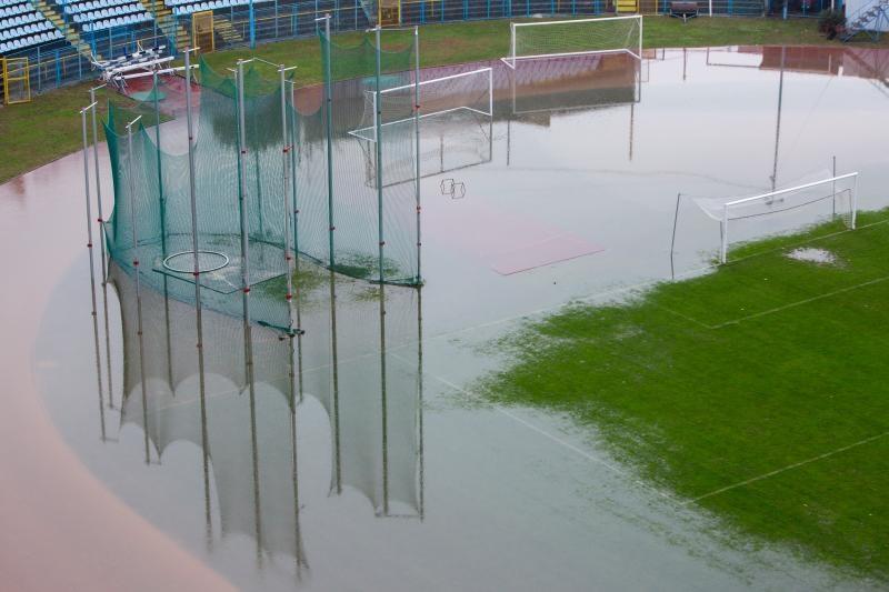 21.11.2016., Rijeka - Poplava uslijed obilne kise na stadionu Kantrida. Photo: Nel Pavletic/PIXSELL
