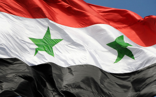 https://commons.wikimedia.org/wiki/File:The_flag_of_Syrian_Arab_Republic_Damascus,_Syria1.jpg