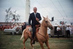 LBJ-Horseback