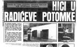 Večernji list 12.kolovoza, 1990.