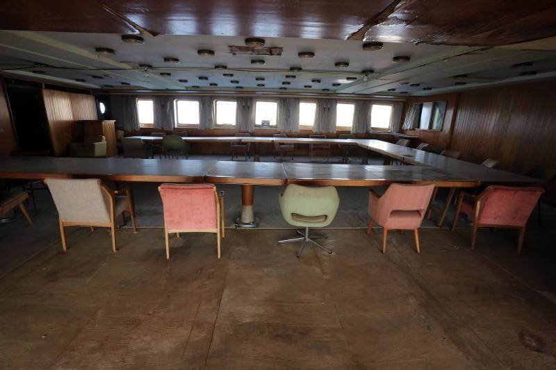 12.04.2017., Rijeka - Na konferenciji za novinare u luci Porto Baros predstavljen je projekt obnove broda Galeb bespovratnim sredstvima iz fondova Europske unije. Photo: Goran Kovacic/PIXSELL