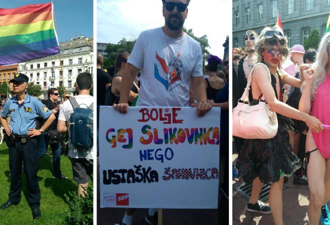 Image result for gay pride zagreb 2018 ustaška šahovnica