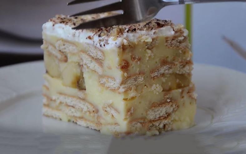SPREMAN BRŽE OD KAVE! Kremasti kolač bez pečenja