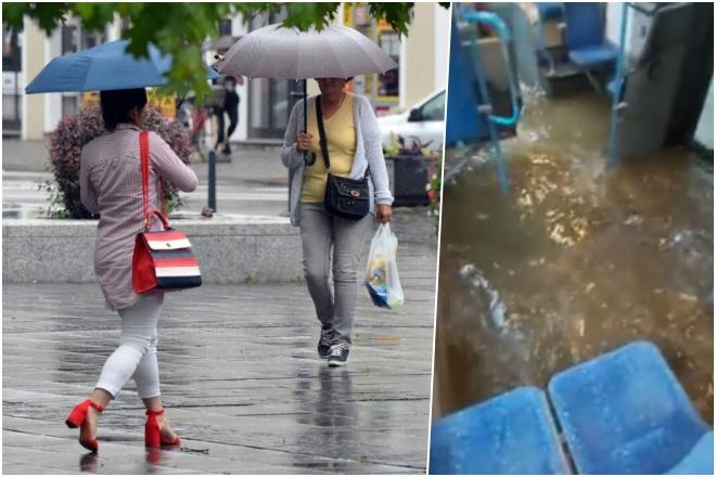 (VIDEO) UPALJEN METEOALARM: Pogledajte potop u Rijeci, pljuštalo i u Zagrebu